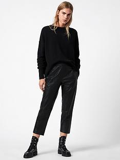 allsaints-jen-leather-joggers-black