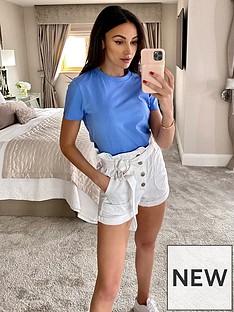 michelle-keegan-short-sleeve-cotton-tee-soft-blue