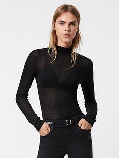 allsaints-francesco-roll-neck-top-black