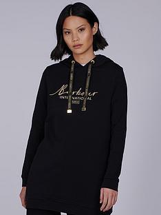 barbour-international-100-cotton-longline-hoodie-black
