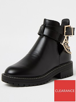 river-island-cut-out-buckle-boot-black