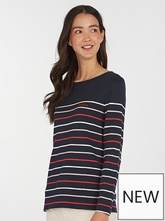 barbour-hawkins-stripe-top-navy