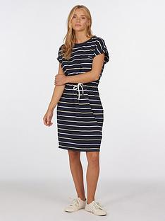 barbour-marloes-stripe-dress-navy