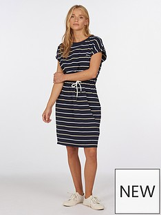 barbour-marloes-stripe-dress-navy