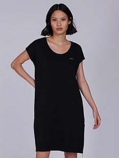 barbour-international-pace-jersey-side-zip-dress-black