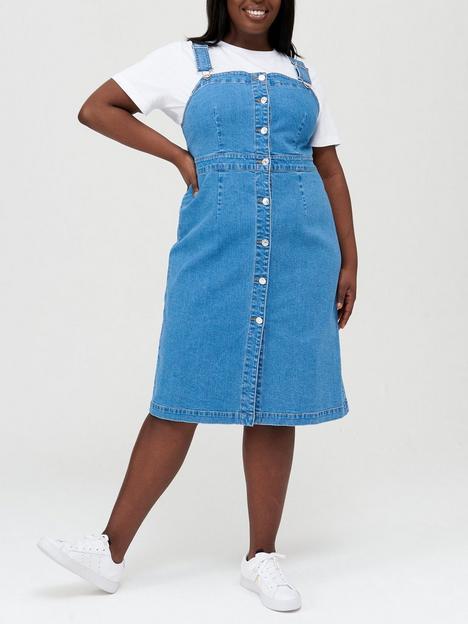 v-by-very-curve-denim-pinafore-midi-dress-mid-blue-wash
