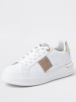 river-island-chain-print-lace-up-trainer-white