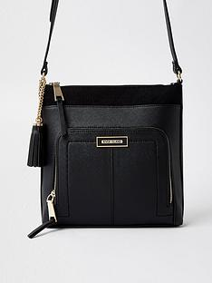 river-island-zip-pocket-front-messengery-bag-black