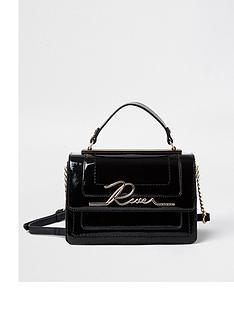 river-island-river-plate-satchel-bag-black