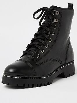 river-island-wide-fit-leather-lace-up-biker-boot-black