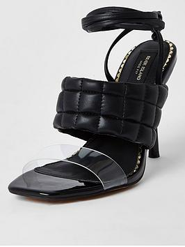 river-island-wide-fit-quilted-tie-up-sandal-black