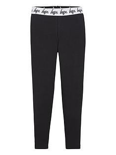 hype-girls-core-script-waistband-legging-black