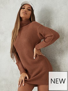 missguided-roll-neck-basic-dress