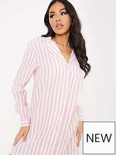 in-the-style-in-the-style-x-lorna-luxe-linen-feelnbspnight-shirt-pink-stripe