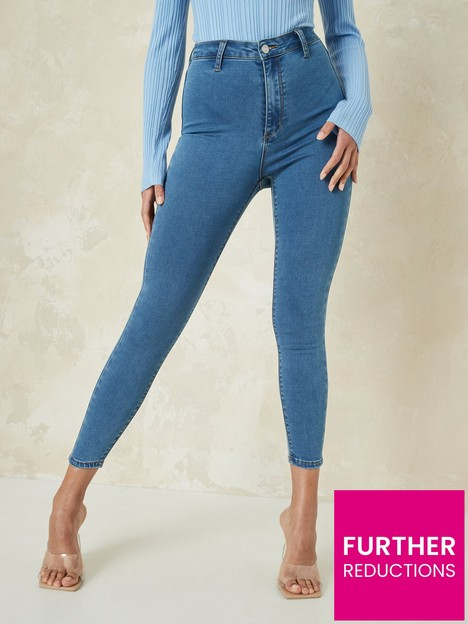 missguided-missguidednbsprecycled-vice-high-waisted-skinny-jeans-with-belt-loops-blue