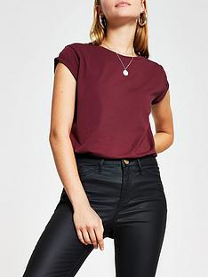 river-island-turnback-sleeve-t-shirtnbsp--mulberry