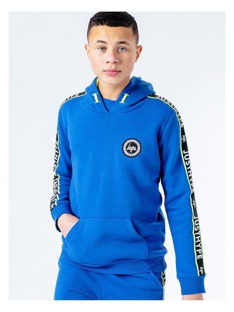 hype-boys-royal-logo-tape-overhead-hoodie-blue