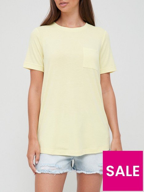 v-by-very-pocket-front-swing-t-shirt-yellow