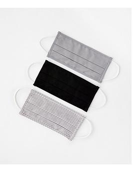 accessorize-3-x-multipack-cotton-face-cover-grey