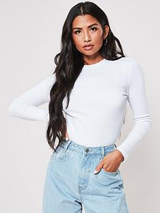 missguided-missguided-long-sleeve-crew-neck-ribbed-top-white