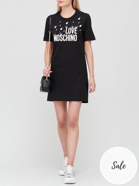 love-moschino-raindrop-tee-dress-black