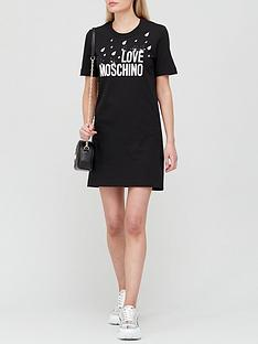 love-moschino-raindrop-tee-dress-black