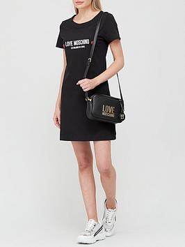 love-moschino-logo-tee-dress-black