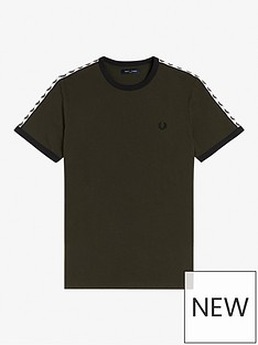 fred-perry-taped-ringer-t-shirt-green