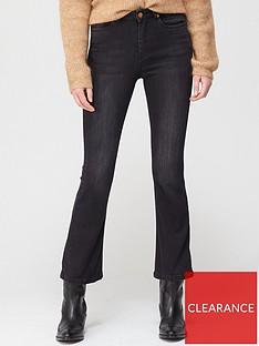 gestuz-emlinda-cropped-flare-jeans-washed-black