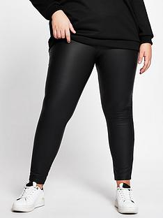 ri-plus-ri-plus-high-waist-coated-legging-black