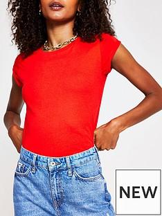 river-island-turnback-sleeve-t-shirtnbsp--red
