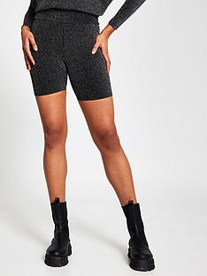 river-island-lurex-cycling-shorts-silver