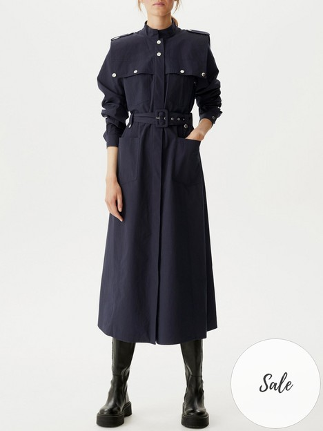 gestuz-flavia-belted-cotton-midi-dress-navy