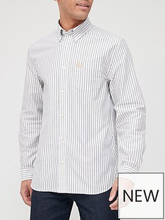 fred-perry-vertical-stripe-shirt-snow-white