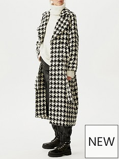gestuz-unna-houndstooth-check-coat-blackwhite