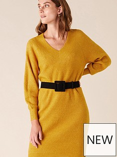 monsoon-ribbed-v-neck-knitted-dress