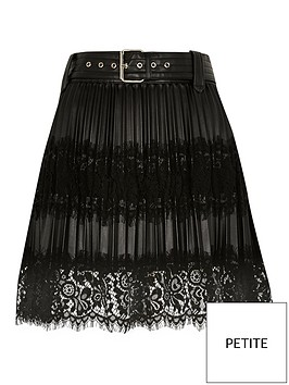 ri-petite-ri-petite-lace-mix-pleated-pu-mini-skirt-black
