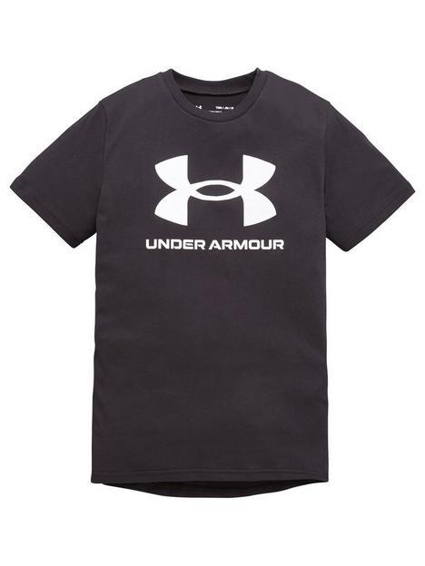 under-armour-boys-sportstyle-logo-short-sleeved-t-shirt-black