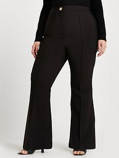 ri-plus-flare-trouser-black