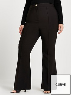 ri-plus-flare-trouser-black