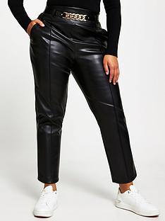 ri-plus-belted-high-waist-pu-trouser-black