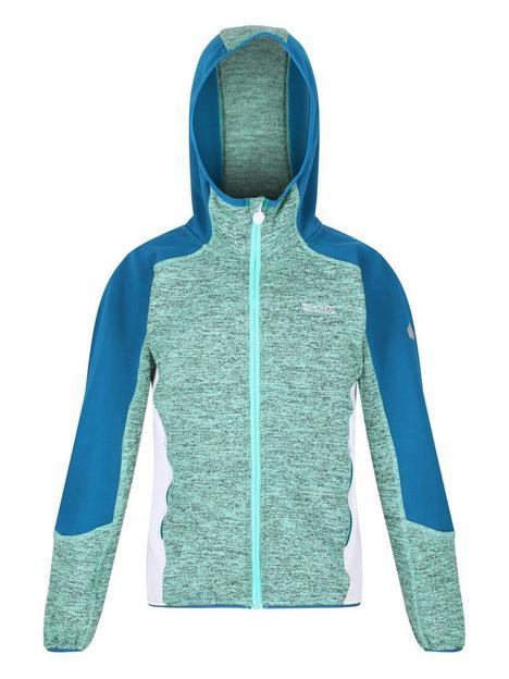regatta-girls-dissolver-iii-hooded-fleece-blue
