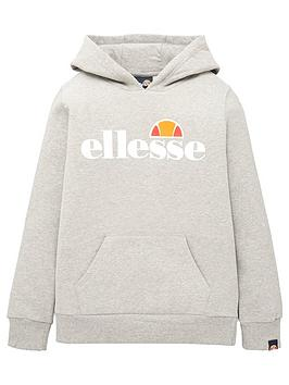 ellesse-junior-girls-core-isobel-overhead-hoodie-grey-marl