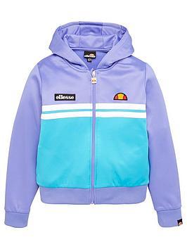 ellesse-junior-girls-stracio-crop-hoodie-purple