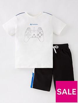 playstation-boysnbspt-shirt-and-short-set-whitenbsp