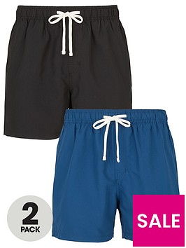 very-man-2-pack-basic-swim-shorts-blackblue