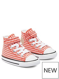 converse-chuck-taylor-all-star-1v-gingham-hi-infants-trainer-redwhite