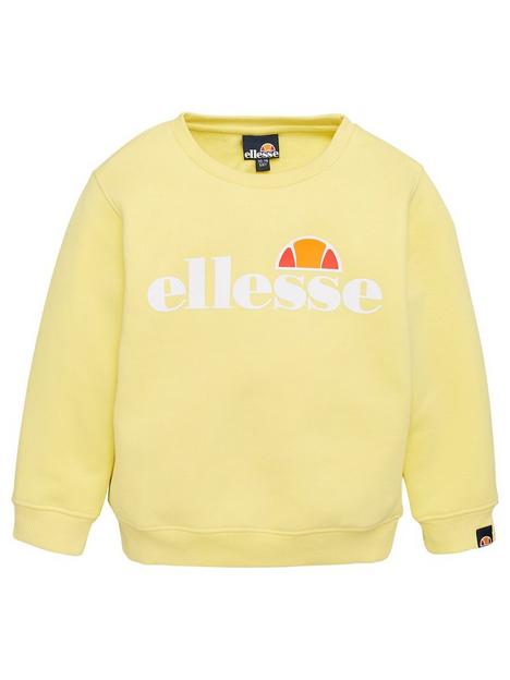 ellesse-younger-girls-core-siobhen-sweatshirt-lemon