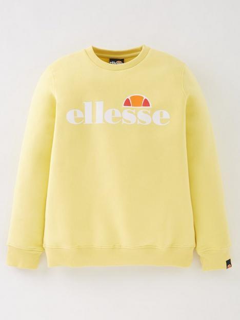 ellesse-junior-girls-core-siobhen-sweatshirt-lemon