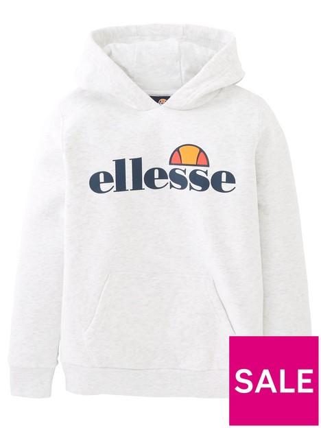 ellesse-junior-girls-core-isobel-overheadnbsphoodie-whitenbsp